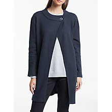 Buy Great Plains Bobby Boiled Wool Coatigan, Classic Navy Online at johnlewis.com