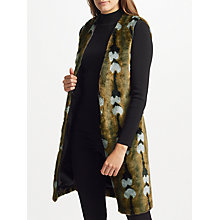 Buy Unreal Fur Reflections Gilet, Vintage Jacquard Online at johnlewis.com