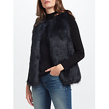 Buy Unreal Fur Midnight Gilet, Midnight Online at johnlewis.com