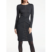 Buy Great Plains Charlotte Jersey Dress, Onyx Black/Classic Navy Online at johnlewis.com
