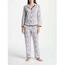 Buy Cyberjammies Luna Spot Print Pyjama Set, White/Black Online at johnlewis.com