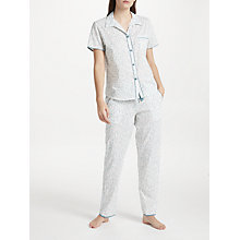 Buy Cyberjammies Grace Leaf Print Pyjama Set, White/Green Online at johnlewis.com