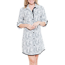Buy Cyberjammies Luna Mono Spot Print Nightshirt, White/Black Online at johnlewis.com