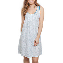 Buy Cyberjammies Grace Leaf Print Chemise, White/Green Online at johnlewis.com