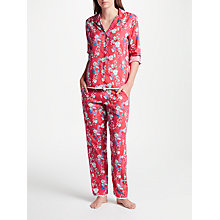 Buy Cyberjammies Polly Floral Print Pyjama Set, Pink/Multi Online at johnlewis.com