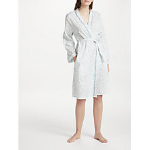 Buy Cyberjammies Grace Leaf Print Dressing Gown, White/Green Online at johnlewis.com