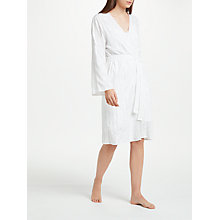 Buy Cyberjammies Georgia Embroidered Robe, White Online at johnlewis.com