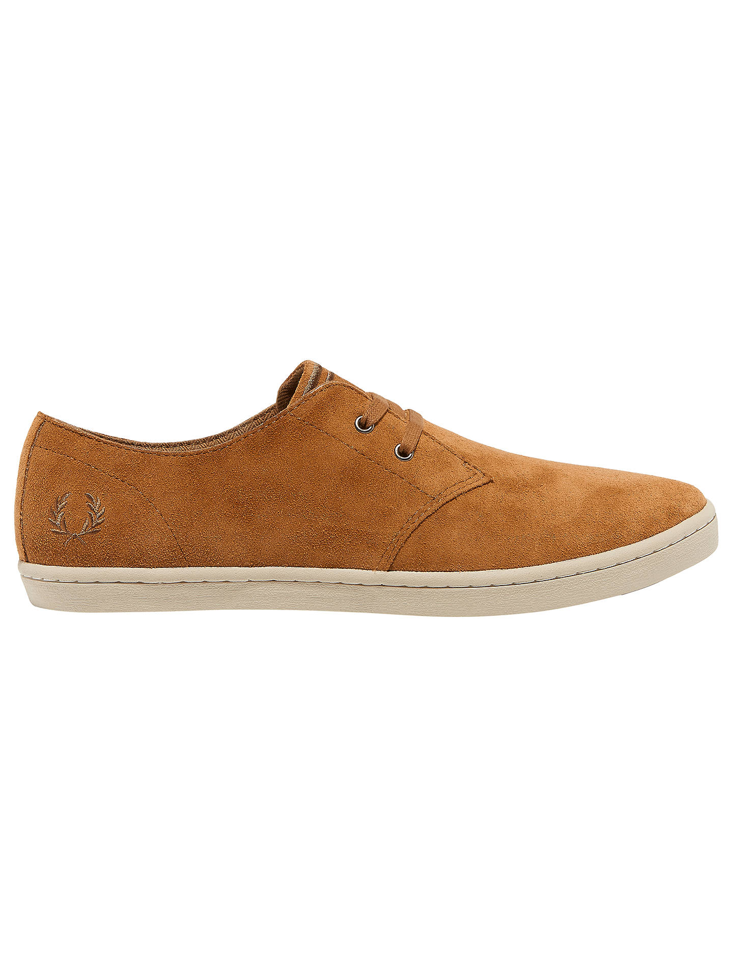 meilleur service 94a01 b91b7 Fred Perry Byron Low Suede Trainer at John Lewis & Partners