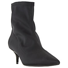 Buy Dune Opelli Kitten Heeled Stretch Sock Ankle Boots, Black Online at johnlewis.com