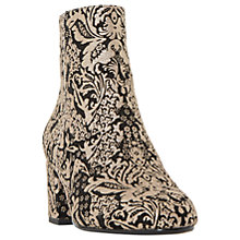 Buy Dune Olexa Block Heeled Ankle Boots, Black Online at johnlewis.com