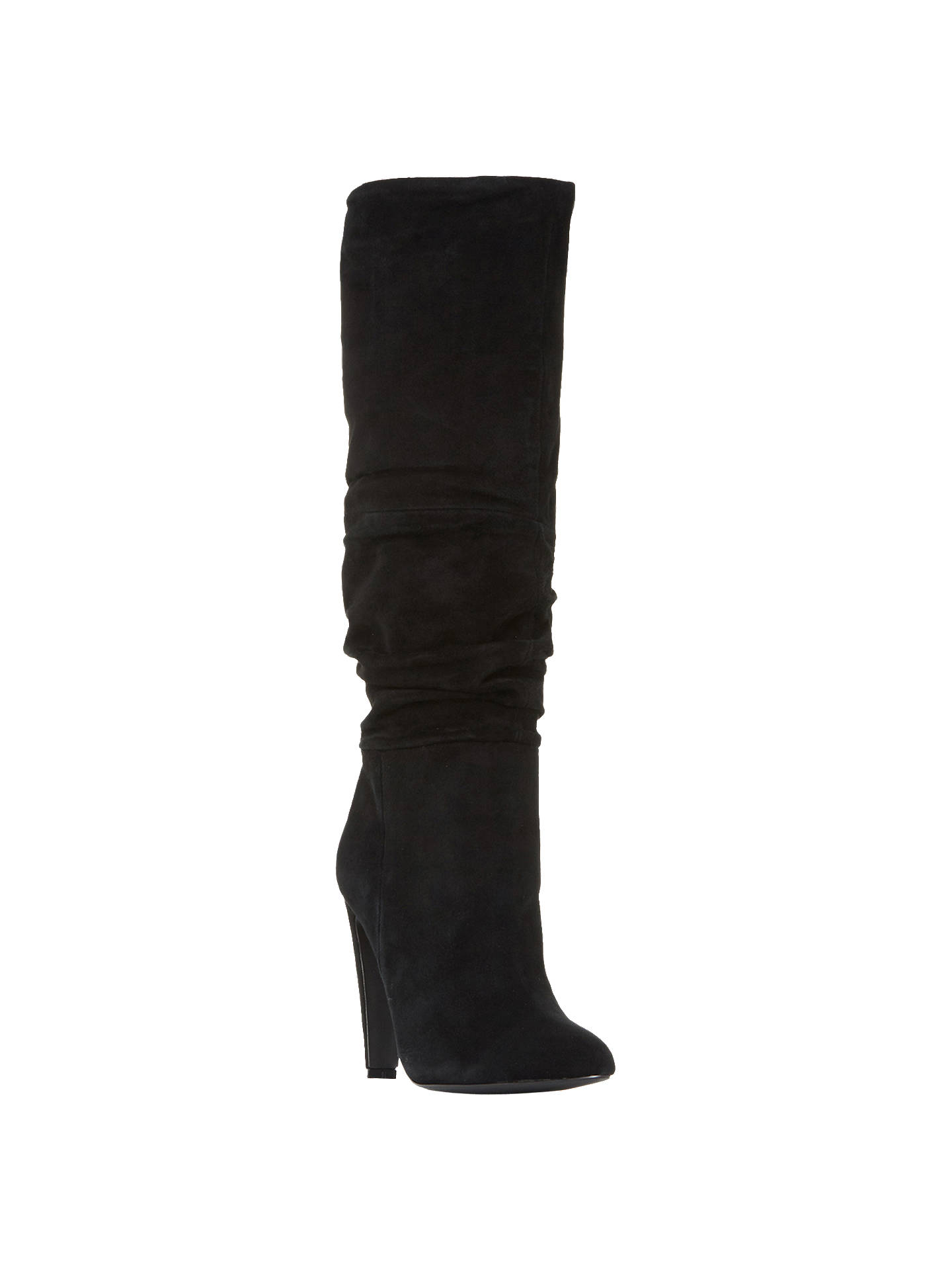 2f1d877d3 Buy Steve Madden Carrie Ruched Knee High Boots, Black Suede, 3 Online at  johnlewis ...