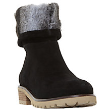 Buy Steve Madden Driller Faux Fur Cuff Ankle Boots , Black Suede Online at johnlewis.com