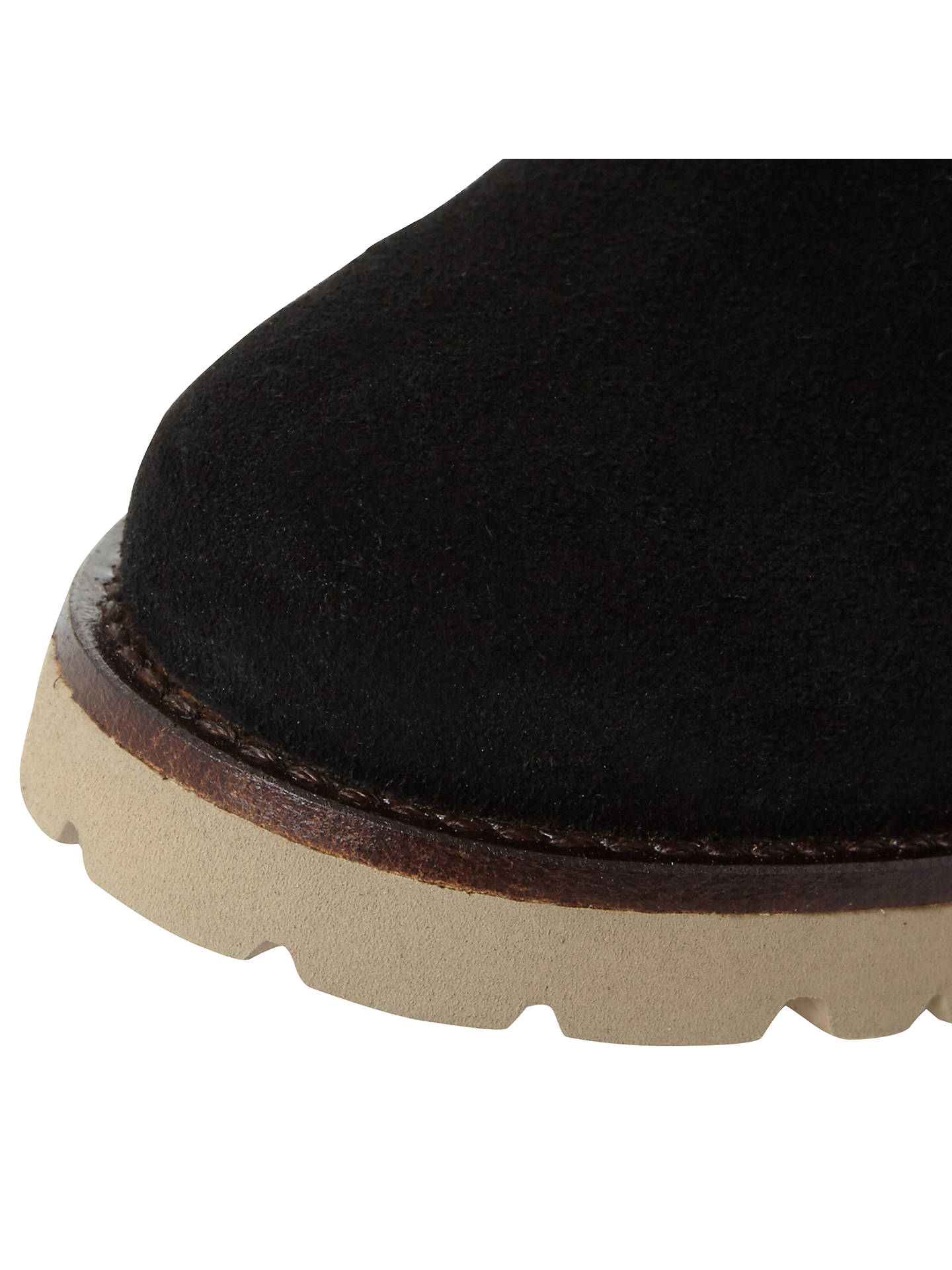Buy Steve Madden Driller Faux Fur Cuff Ankle Boots, Black Suede, 3 Online at johnlewis.com