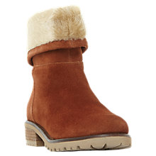 Buy Steve Madden Driller Faux Fur Cuff Ankle Boots, Tan Suede Online at johnlewis.com