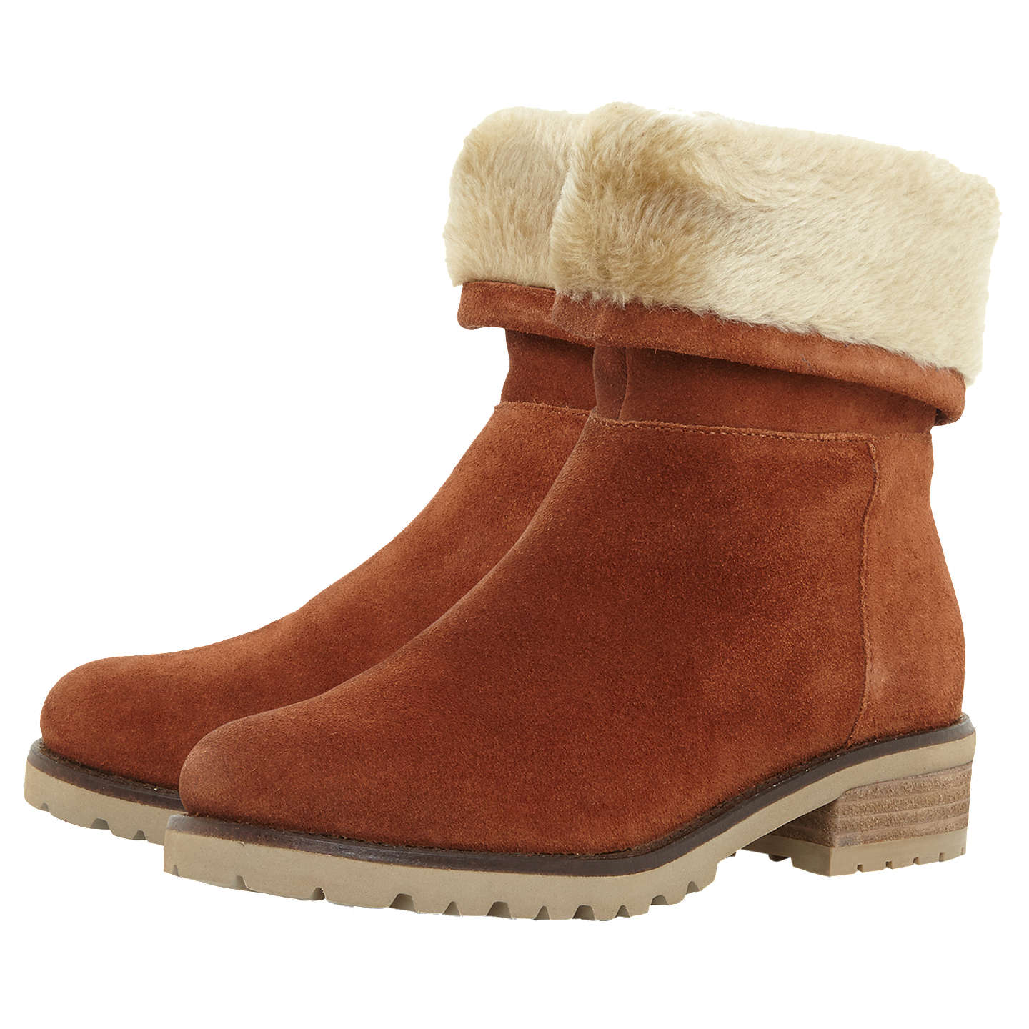 Steve Madden Driller Faux Fur Cuff Ankle Boots , Suede