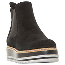 Buy Dune Primo Flatform Chelsea Boots, Black Online at johnlewis.com