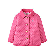 Buy Baby Joule Mabel Quilted Jacket with Ditsy Lining, Pink Online at johnlewis.com