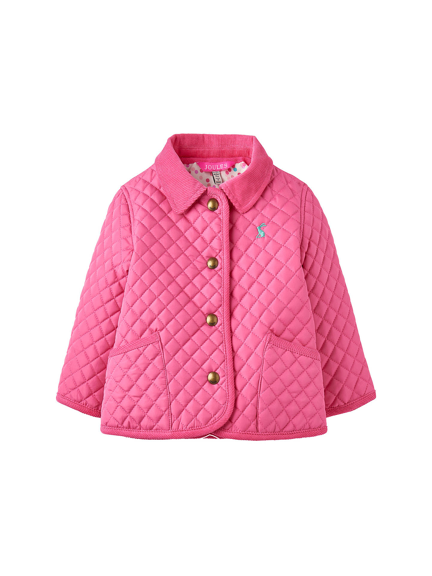 e970bfb9d Baby Joule Mabel Quilted Jacket with Ditsy Lining