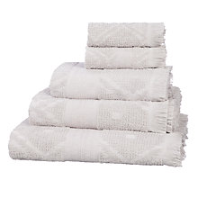 Buy John Lewis Fusion Mahal Carved Cotton Towels Online at johnlewis.com
