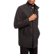 Buy Jaeger Wool Funnel Car Coat, Grey Online at johnlewis.com