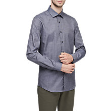 Buy Reiss Shore Shirt, Indigo Online at johnlewis.com