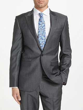 Buy John Lewis & Partners Tonic Wool Mohair Tailored Fit Suit Jacket, Grey, 40L Online at johnlewis.com