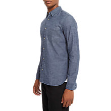 Buy Jaeger Brushed Cotton Shirt, Chambray Online at johnlewis.com