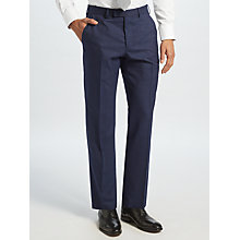 Buy John Lewis Ermenegildo Zegna Super 160s Wool Check Tailored Suit Trousers, Navy Online at johnlewis.com