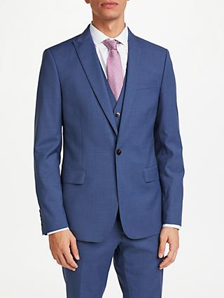 Kin Crepe Slim Fit Suit Jacket, Airforce Blue