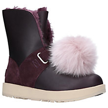 Buy UGG Isley Sheepskin Waterproof Ankle Boots, Purple Leather Online at johnlewis.com