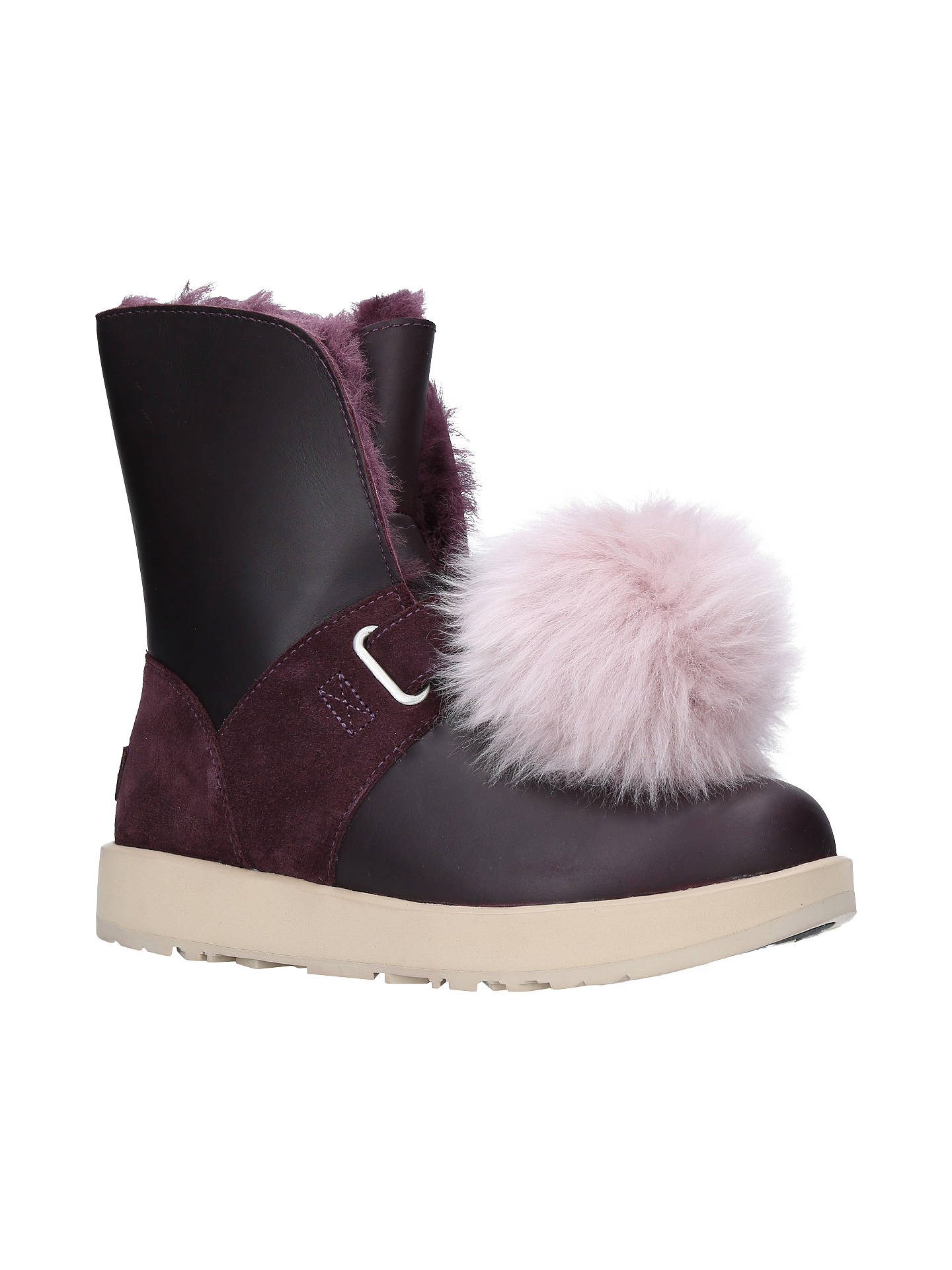 American Girl Purple Shearling Boots for doll NEW IN BOX