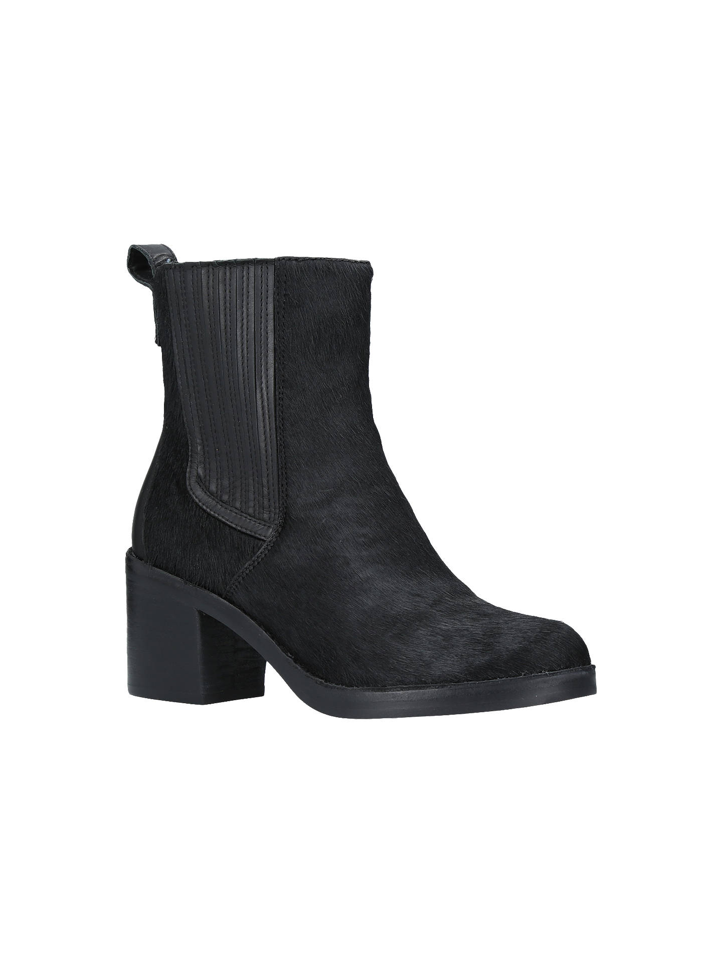 b870cf188f4 UGG Camden Block Heeled Ankle Chelsea Boots, Black Suede at John ...
