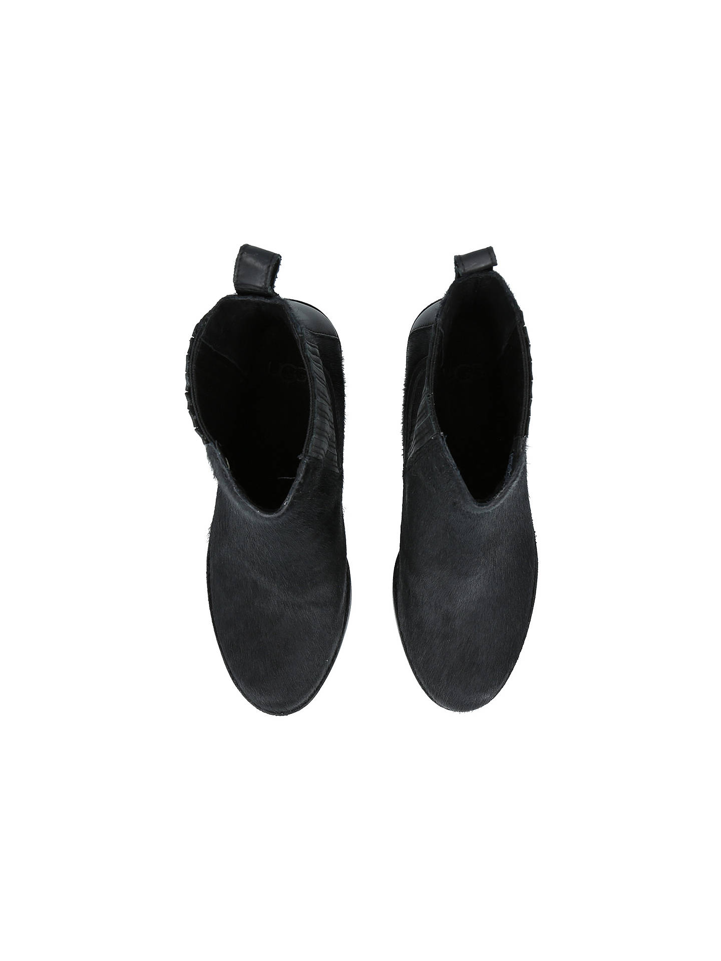 398c92dca0a UGG Camden Block Heeled Ankle Chelsea Boots, Black Suede at John ...