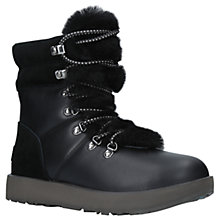 Buy UGG Viki Waterproof Ankle Boots, Black Leather Online at johnlewis.com