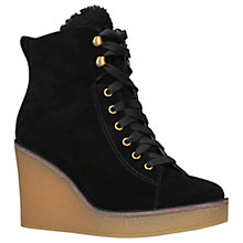Buy UGG Kiernan Wedge Heel Ankle Boots, Black Suede Online at johnlewis.com