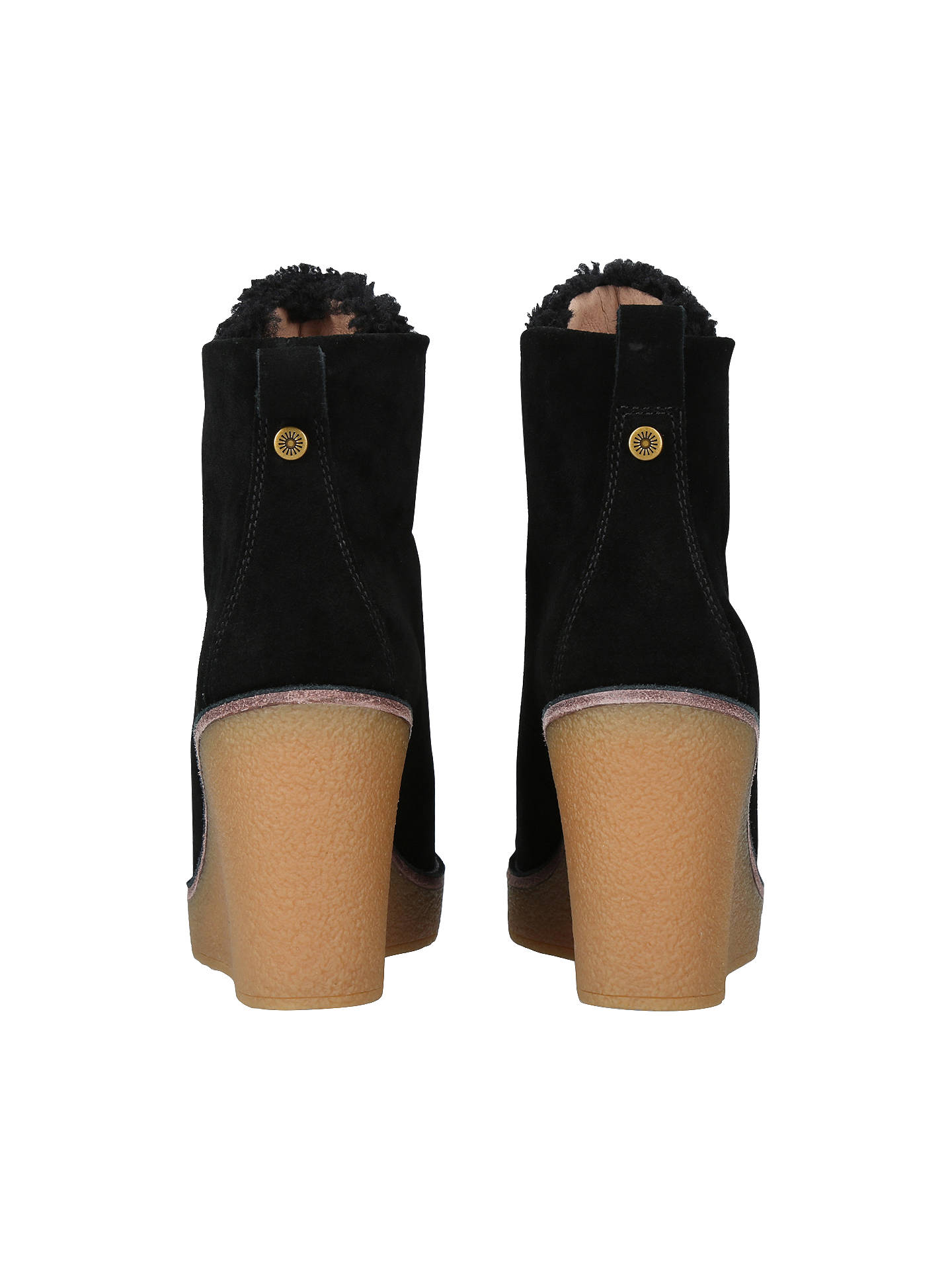 f536389c7a6 UGG Kiernan Wedge Heel Ankle Boots, Black Suede at John Lewis & Partners