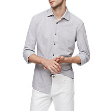 Buy Reiss Massey Shirt, Soft Grey Online at johnlewis.com