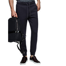 Buy Reiss Claude Jersey Joggers, Navy Online at johnlewis.com