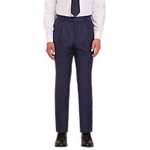 Buy Jaeger Plain Twill Regular Fit Trousers, Mid Blue Online at johnlewis.com