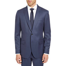 Buy Jaeger Plain Twill Regular Fit Suit Jacket, Mid Blue Online at johnlewis.com