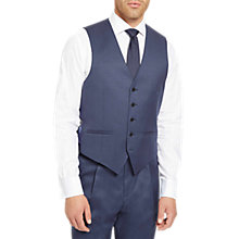 Buy Jaeger Plain Twill Regular Fit Waistcoat, Mid Blue Online at johnlewis.com