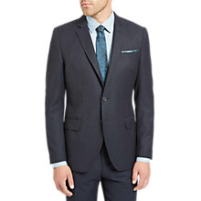 Buy Jaeger Wool Mouline Slim Fit Jacket, Blue Online at johnlewis.com