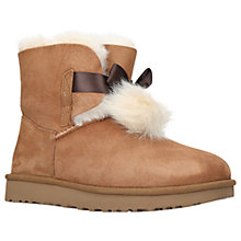 Buy UGG Gita Bow Ankle Boots, Chestnut Online at johnlewis.com