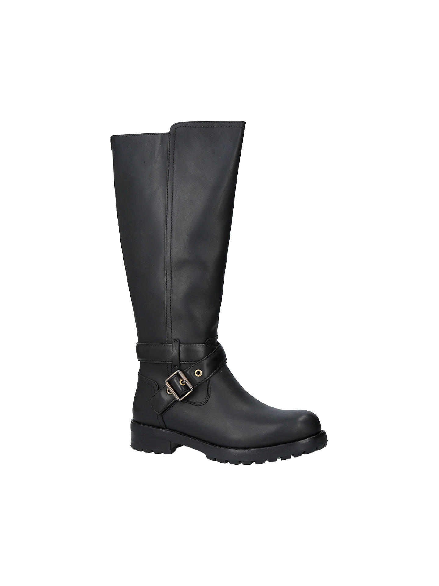 59aa8c82919 UGG Harington Knee High Boots, Black Leather at John Lewis & Partners