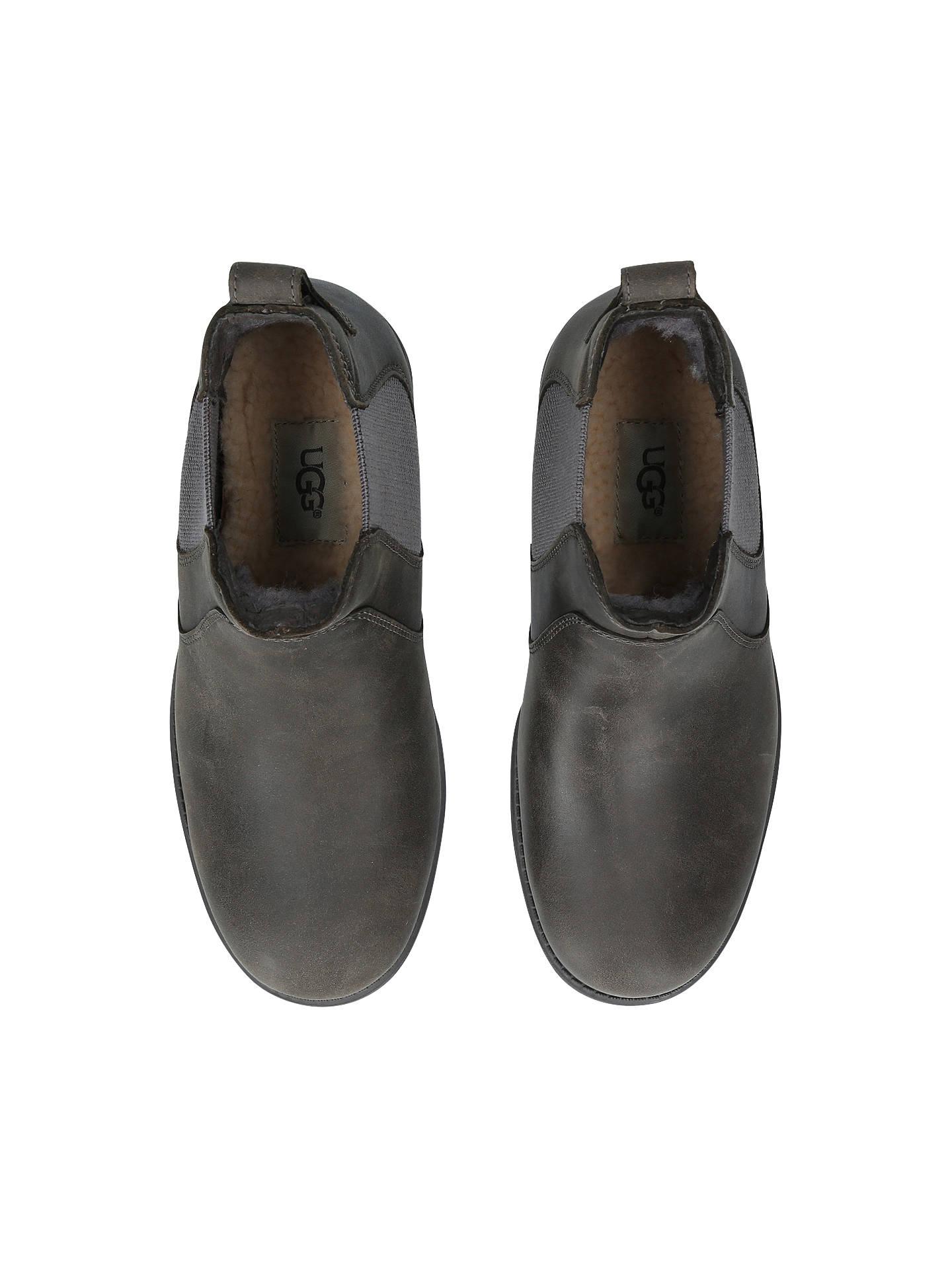 b6822ae1cc2 UGG Bonham Leather Low Block Heel Ankle Boots at John Lewis & Partners