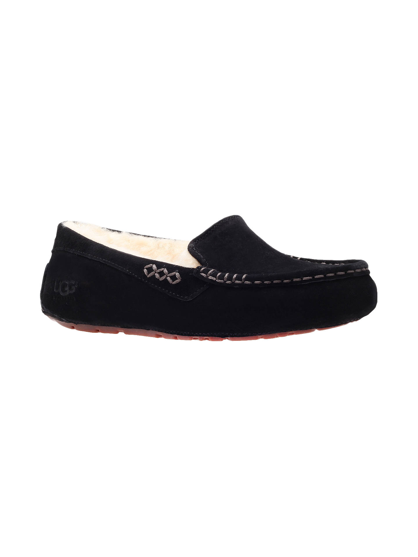 51c3439058d UGG Ansley Moccasin Sheepskin Slippers, Black at John Lewis & Partners