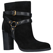 Buy UGG Dandridge Block Heeled Ankle Boots, Black Suede Online at johnlewis.com