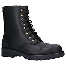 Buy UGG Kilmer Lace Up Ankle Boots, Black Leather/Suede Online at johnlewis.com