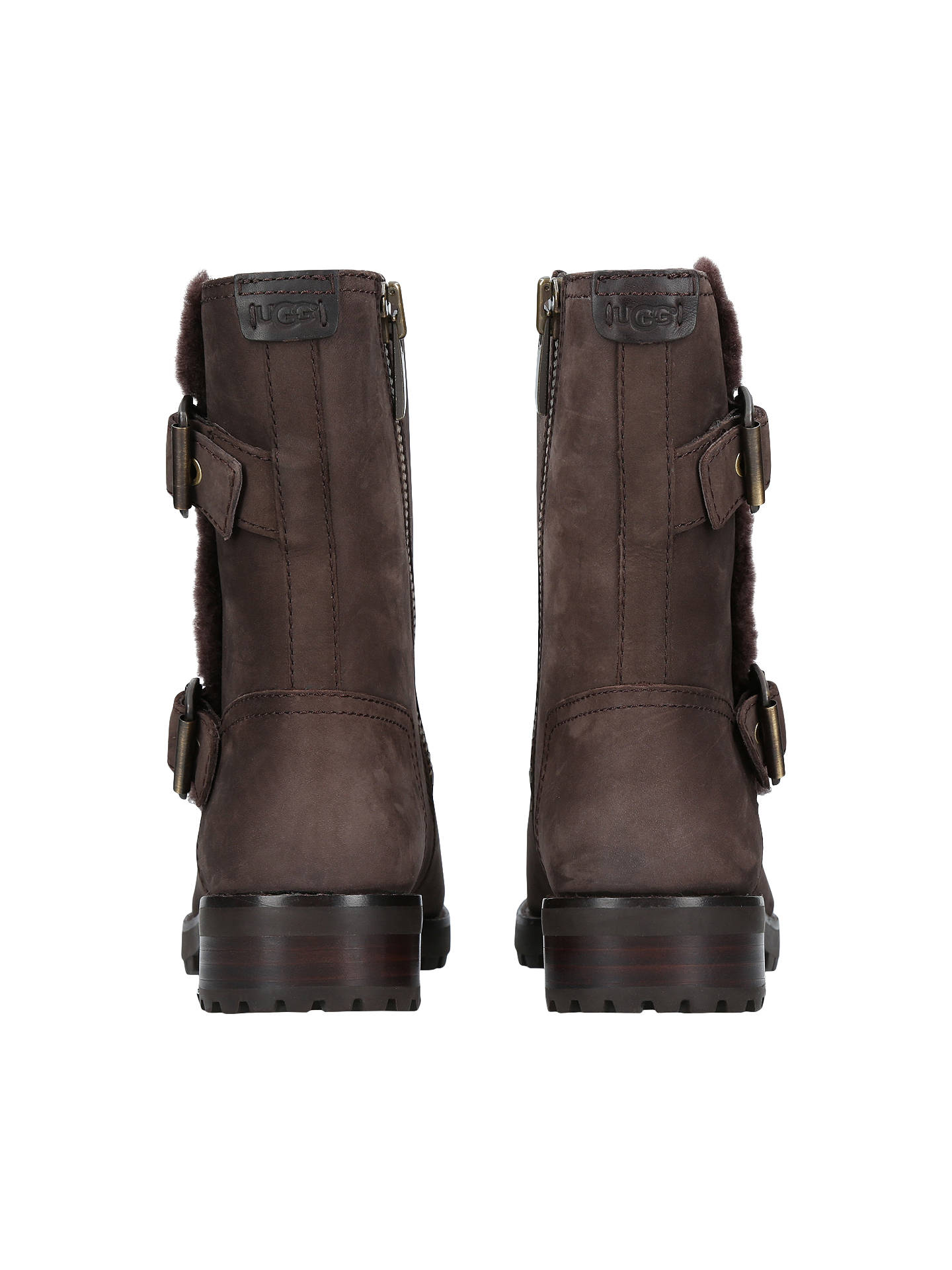 c2916398a81 UGG Niels Calf High Boots, Dark Brown Leather at John Lewis & Partners