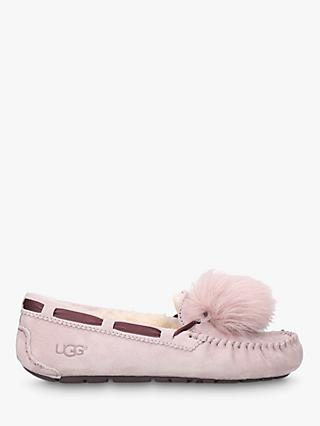 UGG Dakota Moccasin Pom Sheepskin Slippers, Pale Pink
